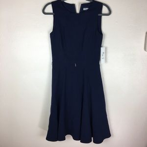 Eliza J Navy blue fit-and-flare dress